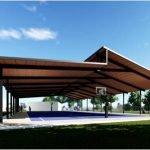 Locally made basketball court in darwin